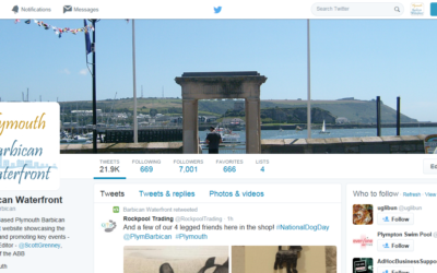 Our Plymouth Barbican Waterfront Twitter channel now over 7000 followers